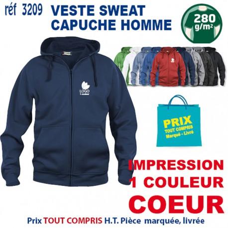 VESTE SWEAT HOMME CAPUCHE REF 3209 3209 SWEAT 18,60 €