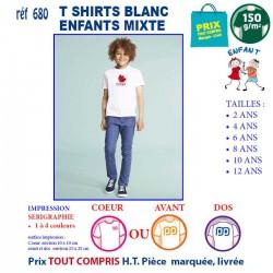 T-SHIRTS BLANCS ENFANT MIXTE REF 640 640 T SHIRTS BLANCS 3,37 €