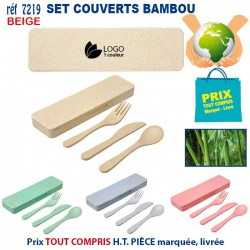 SET COUVERTS BAMBOU REF 7219 7219 LOISIRS - PLAGE 2,83 €