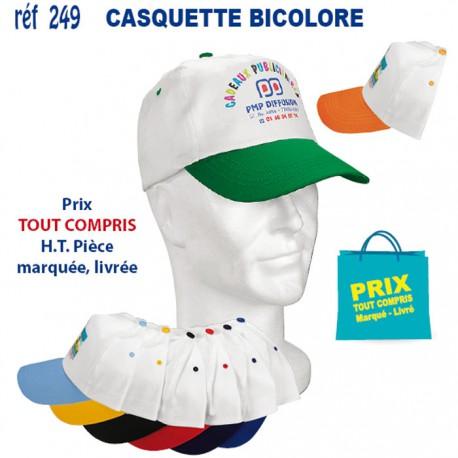 CASQUETTE ADULTE BICOLORE REF 249 249 CASQUETTES ADULTES 1,45 €