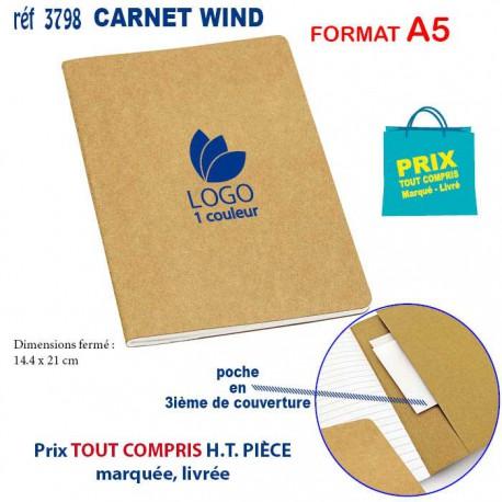 CARNET WIND A5 REF 3798 3798 Carnet personnalisé  1,77€