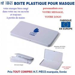 BOITE PLASTIQUE PERSONNALISEE POUR MASQUES REF 100-21 100-21 PROTECTION PREVENTION 1,98 €