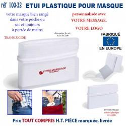ETUI PLASTIQUE PERSONNALISE POUR MASQUES REF 100-32 100-32 PROTECTION PREVENTION 0,93 €