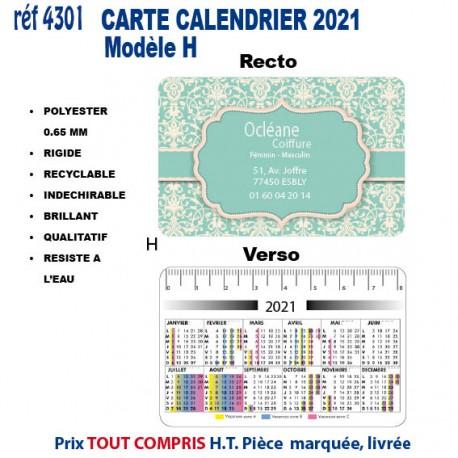 CARTE CALENDRIER 2021 REF 4301 4301 Accueil 0,39 €
