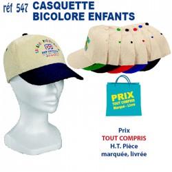 CASQUETTE ENFANT BICOLORE VISIERE PREFORMEE 547 CASQUETTES ENFANTS 1,40 €