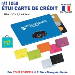 ETUI CARTES DE CREDIT REF 1058