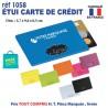 ETUI CARTES DE CREDIT REF 1058 1058 ETUIS PORTE CARTES DE CREDIT 0,52 €