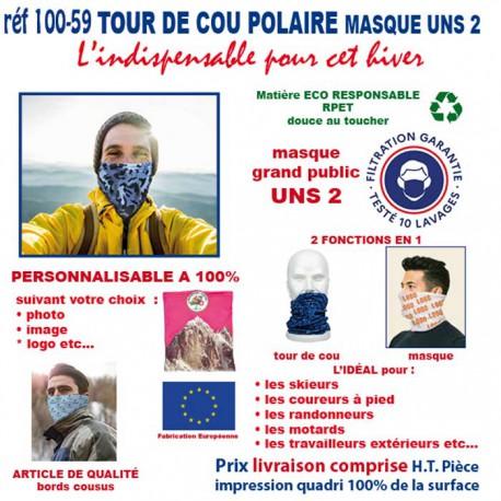 TOUR DE COU POLAIRE MASQUE REF 100-59 100-59 PROTECTION PREVENTION 2,80 €