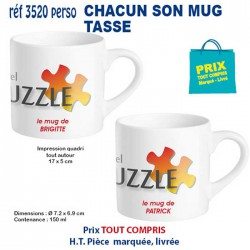 CHACUN SON MUG TASSE REF 3520perso 3520perso MUGS GOBELETS PUBLICITAIRES PERSONNALISES 5,87 €