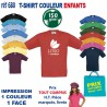 T SHIRT COULEUR ENFANTS 150 GRS REF 680 680 T SHIRTS COULEUR 3,12 €