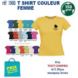 T SHIRT COULEUR FEMME REF 1900 1900 T SHIRTS COULEUR 3,35 €