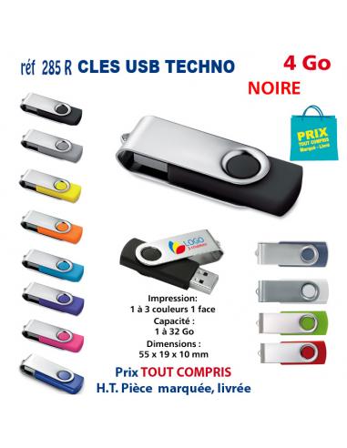 CLES USB REF 285R 4 Go 285R-4Go CLES USB PUBLICITAIRES  3,76€