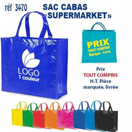 SACS CABAS SUPERMARKET REF 3470 3470 SACS SHOPPING - TOTEBAG 1,21 €