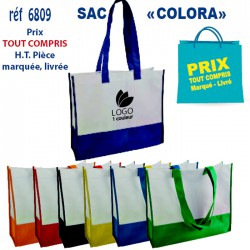 SAC COLORA REF 6809 6809 SACS SHOPPING - TOTEBAG 1,30 €