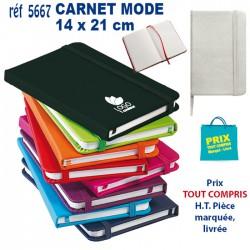 CARNET MODE A5 REF 5667 5667 Carnet 1,96 €
