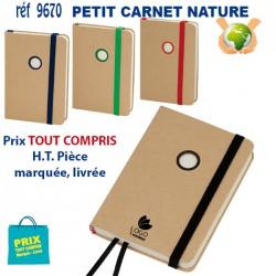 PETIT CARNET NATURE REF 9670 9670 Carnet 1,06 €