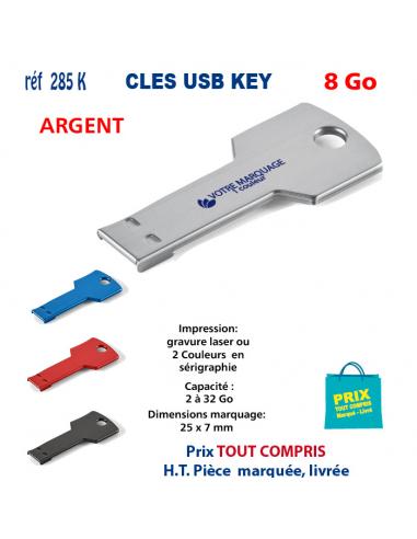 CLES USB REF 285K KEY 8 Go 285 K KEY 8 Go CLES USB PUBLICITAIRES  4,65€