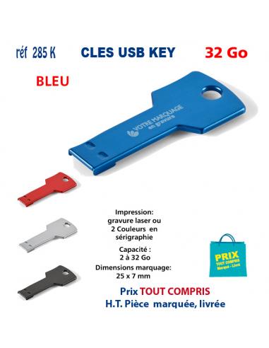 CLES USB REF 285K KEY 32 Go 285 K KEY 32 Go CLES USB PUBLICITAIRES  7,15€