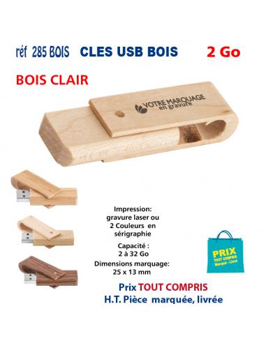 CLES USB REF 285 BOIS 2 Go 285 BOIS 2 Go CLES USB PUBLICITAIRES  4,29€