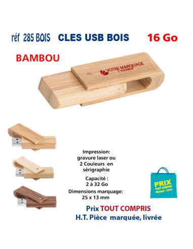 CLES USB REF 285 BOIS 16 Go 285 BOIS 16 Go CLES USB PUBLICITAIRES  5,62€