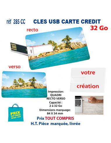 CLES USB REF 285 CC CARTE DE CREDIT 32 Go 285 CC 32 Go CLES USB PUBLICITAIRES  7,15€