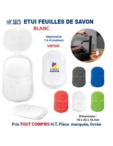 ETUIS FEUILLES DE SAVON REF 3875 3875 PROTECTION PREVENTION  1,76€