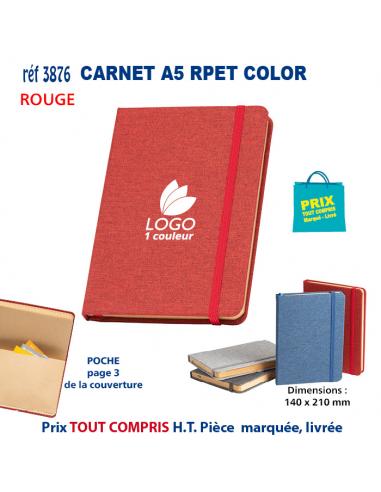 CARNET A5 RPET COLOR REF 3876 3876 Carnet personnalisé  4,27€