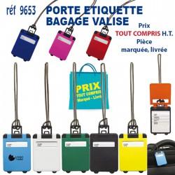 PORTE ETIQUETTE BAGAGE VALISE 9653 POCHETTE - PORTE ETIQUETTE BAGAGE 0,47 €