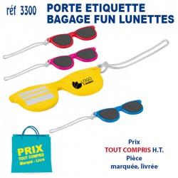 PORTE ETIQUETTE BAGAGE FUN LUNETTES 3300 POCHETTE - PORTE ETIQUETTE BAGAGE 0,88 €