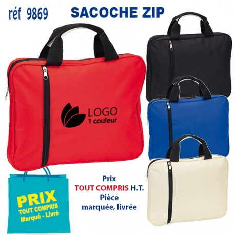 SACOCHE ZIP REF 9869 9869 SACOCHES - PORTE DOCUMENTS 4,49 €
