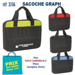 SACOCHE GRAPH REF 3706 3706 SACOCHES - PORTE DOCUMENTS 4,01 €