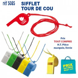 SIFFLET TOUR DE COU REF 5085 5085 SUPPORTERS 0,33 €