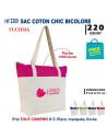 SAC COTON CHIC BICOLORE REF 3309 3309 SACS SHOPPING - TOTEBAG  6,18€