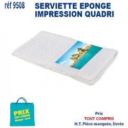 SERVIETTE EPONGE IMPRESSION QUADRI REF 9508 9508 SERVIETTES 3,08 €
