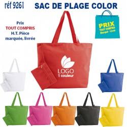 SAC DE PLAGE COLOR REF 9261 9261 LOISIRS - PLAGE 3,70 €