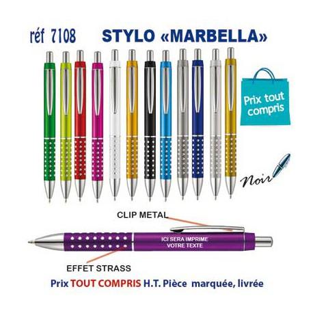 STYLO MARBELLA REF 7108 7108 Stylos plastiques 0,37 €