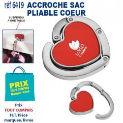 ACCROCHE SAC PLIABLE COEUR REF 6419 6419 ACCROCHE SAC 1,84 €