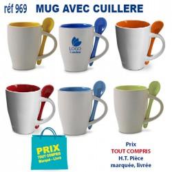 MUG AVEC CUILLERE REF 969 969 MUGS 2,76 €