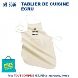 TABLIER DE CUISINE ECRU REF 8046 8046 TABLIERS DE CUISINE 1,93 €