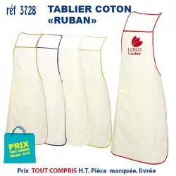 TABLIER COTON ECRU RUBAN REF 3728 3728 TABLIERS DE CUISINE 2,31 €