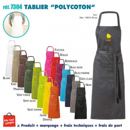 TABLIER DE CUISINE POLYCOTON REF 7304 7304 TABLIERS DE CUISINE 5,28 €