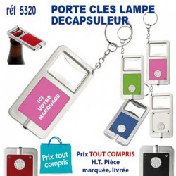 PORTE CLES LAMPE DECAPSULEUR REF 5320 5320 PORTE CLES PLASTIQUE 0,62 €