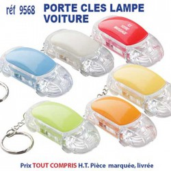PORTE CLES LAMPE VOITURE REF 9568