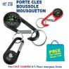 PORTE CLES MOUSQUETON BOUSSOLE REF 278 278 PORTE CLES PLASTIQUE 0,50 €