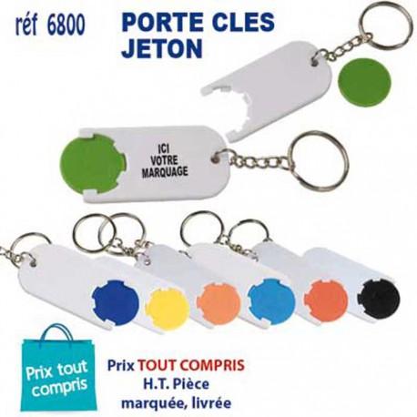PORTE CLES JETON REF 6800 6800 PORTE CLES PLASTIQUE 0,39 €
