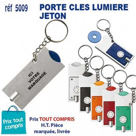 PORTE CLES LUMIERE JETON REF 5009 5009 PORTE CLES PLASTIQUE 0,55 €
