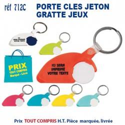 PORTE CLES JETON GRATTE JEUX REF 712 C 712 C PORTE CLES PLASTIQUE 0,64 €