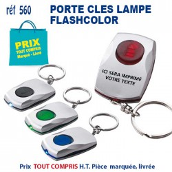 PORTE CLES LAMPE FLASHCOLOR REF 560