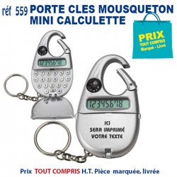PORTE CLES MOUSQUETON MINI CALCULETTE REF 559
