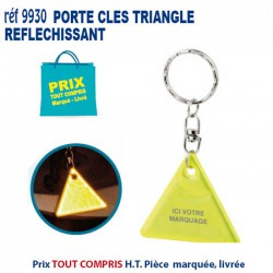 PORTE CLES REFLECHISSANT TRIANGLE REF 9930 9930 PORTE CLES PLASTIQUE 0,47 €